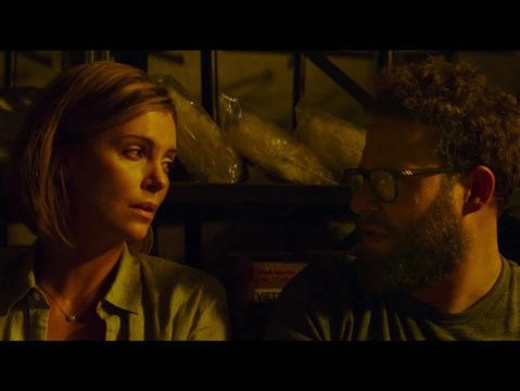 Seth Rogen and Charlize Theron star in the first trailer for new knockabout comedy Long Shot
