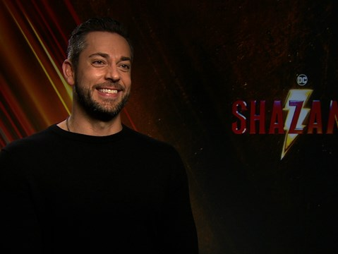 """It's a 14-year old boy in a superhero body, there's no other superhero like that..."" - hmv.com talks Shazam! with Zachary Levi and Mark Strong"