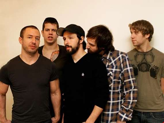 Greg Puciato (far left) with the Dillinger Escape Plan