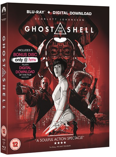 Ghost in the Shell (hmv Exclusive) Limited Edition Artwork includes Bonus Disc