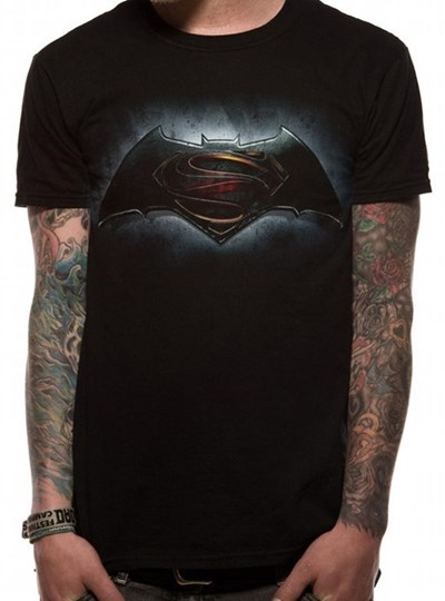 Batman V Superman Logo Mens T-Shirt: Black